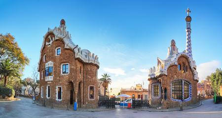 Autocollant pour porte Barcelona Barcelona, Guell Park, Spain