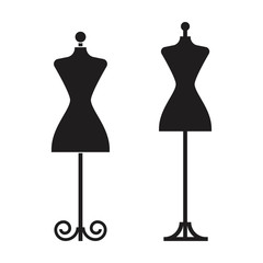 two dummy dress illustration vector