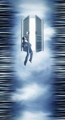 Businessman and the door