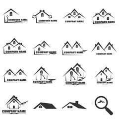 House Real Estate  icon logo design Vector illustration EPS10