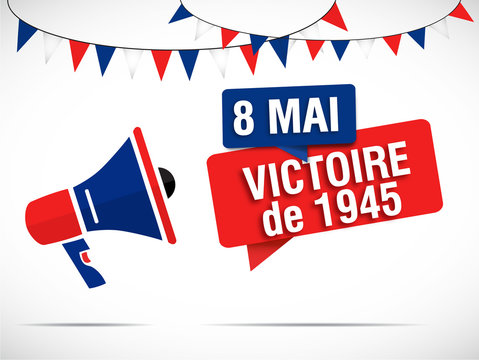 mégaphone : 8 mai victoire de 1945
