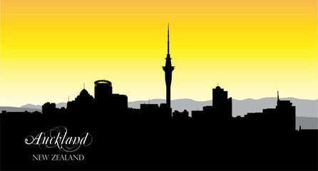 auckland silhouette