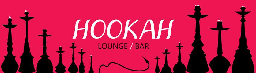 Hookah Lounge Bar Menu, Nargile, Nargila, hubble bubble (Vector Art)