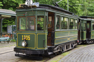 Vieux tram bruxellois