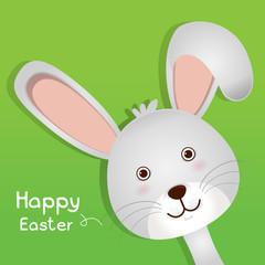 Easter cute bunny Vector