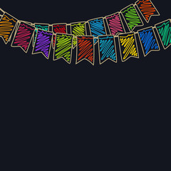 Festive Colorful  Background