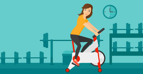 Woman doing cycling exercise.