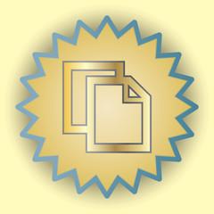 Copy gold icon