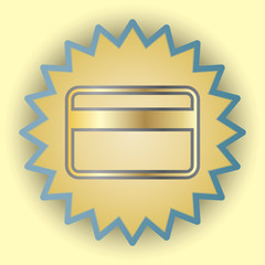 Credit cart gold icon