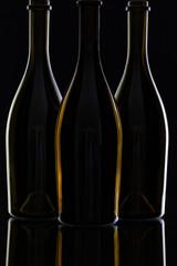 Three different bottles of wine