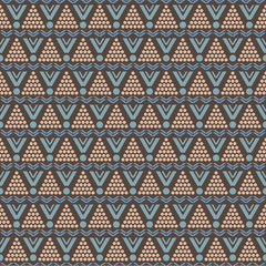 Seamless pattern of round and triangular shapes