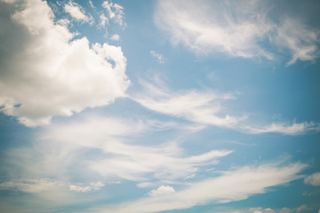 cloud on blue sky