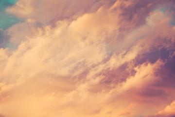 Door stickers Heaven beautiful clouds at sunset