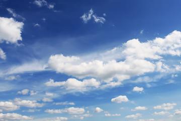 Big clouds on sky