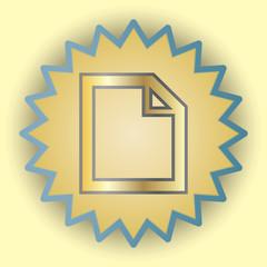 File gold icon