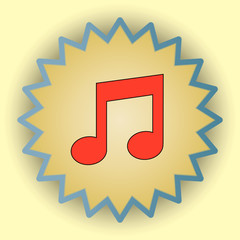 Music gold icon