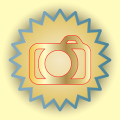 Photo gold icon