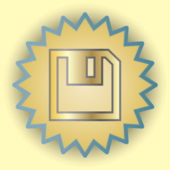 Save gold icon