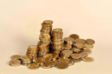 Münzgeld, Münzen, Geld, Euro, Europa, , Währung, Europäische Währungsunion, Europäische Union, EU, Münze