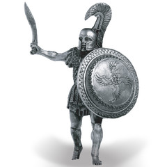 Greek hoplite tin soldier
