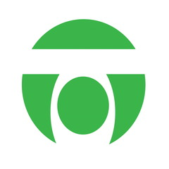 green circle logo, design element icon