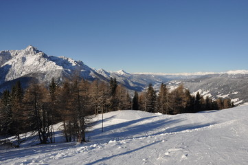 Italien, Südtirol, Dolomiten, Sexten, Sextener Dolomiten, Helm, Innichen, Wintersport
