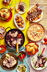 Delicious feast of Brazilian cuisine