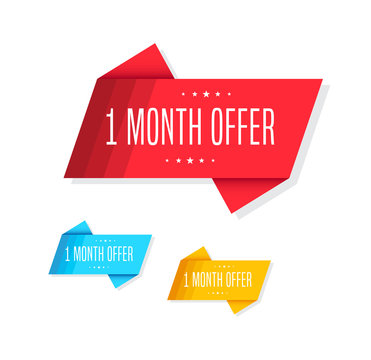 1 Month Offer Tags