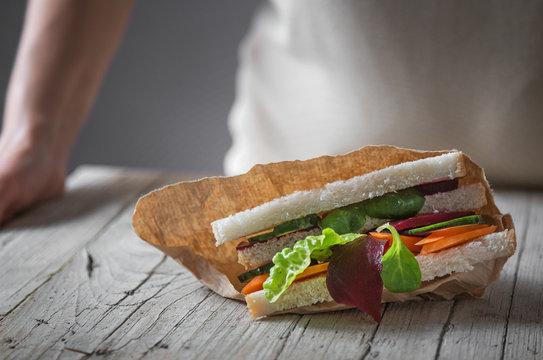 Delicious vegetable sandwich