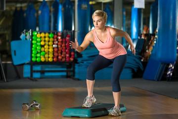 High intensity level cardio fat and calorie burn aerobic class crossfit fun cute beauty