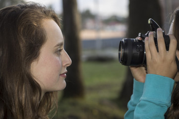Fotografiando a la modelo