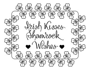 Irish kisess, shamrock wishes - St. Patrick's Day sayings