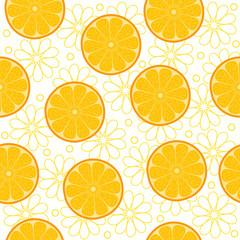 Orange slices. Seamless background.