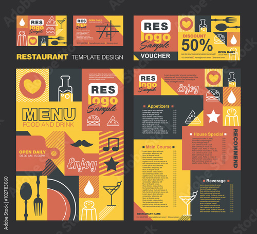 Big set of restaurant and cafe menu designvoucherbusiness card big set of restaurant and cafe menu designvoucherbusiness cardrestaurant cafe reheart Image collections