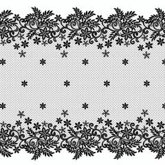 Floral lace borders