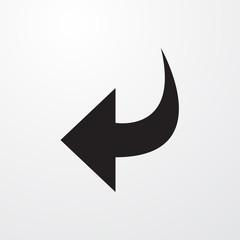 Undo icon for web and mobile.