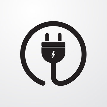 Electrial plug, Power cord icon for web and mobile