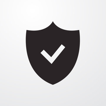 Security check icon for web and mobile