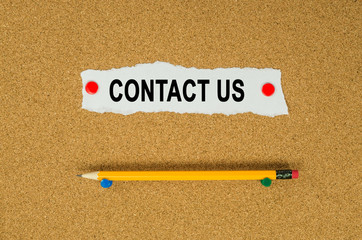 Contact us text note message pin on bulletin board