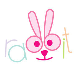 rabbit sign vector illustration isolated