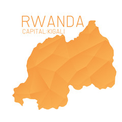 Rwanda map geometric texture background