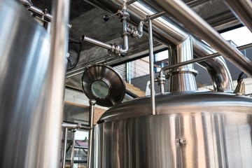 Large vats of beer