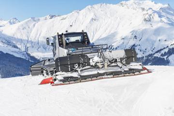 Ratrack machine on a ski piste