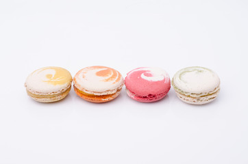 french sweet delicacy, macaroons variety closeup