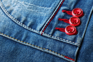 new fashionable blue jeans closeup photo