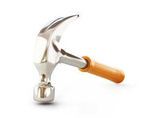 claw hammer 3d Illustrations on a white background