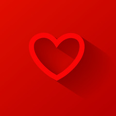 Red heart icon. Vector