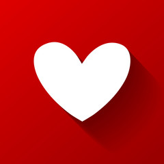 Heart on red background. Vector
