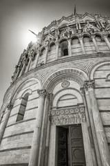 Fototapete - Baptistery of St. John in the Piazza dei Miracoli, Pisa, Tuscany, Italy