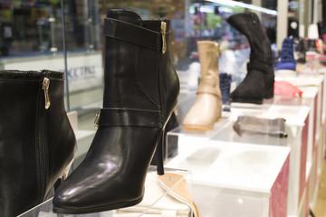 Women's shoes in a shop window